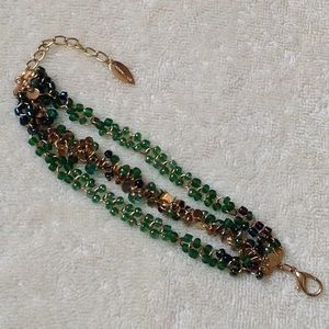 Coldwater Creek Green Beads Strands Bracelet